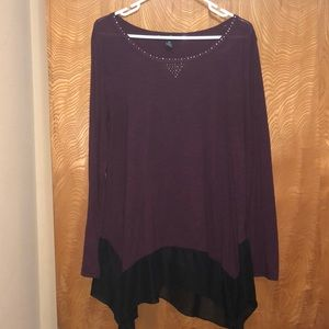 French Laundry Purple Flowing Shirt XL